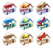Ícones da casa Imagens de Stock