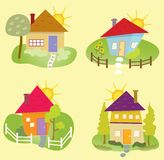 Ícones da casa de verão Imagem de Stock Royalty Free