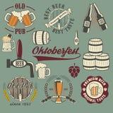 Ícones da cerveja Imagens de Stock
