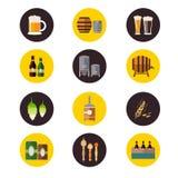 Ícones da cervejaria Imagens de Stock Royalty Free