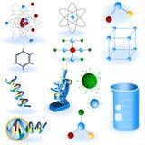 Ícones da ciência Imagem de Stock Royalty Free