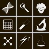 Ícones da ciência Imagens de Stock