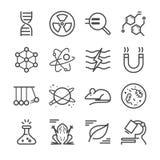 Ícones da ciência ilustração do vetor