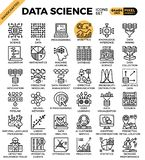 Ícones da ciência dos dados ilustração do vetor