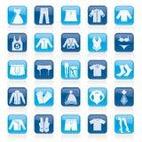 Ícones da coleção da roupa e da forma Fotografia de Stock Royalty Free