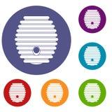 Ícones da colmeia ajustados Fotos de Stock Royalty Free