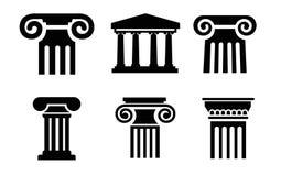 Ícones da coluna Imagens de Stock