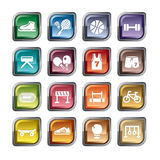 Ícones da competição de esporte ilustração stock