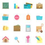 Ícones da compra Fotos de Stock
