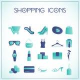 Ícones da compra ilustração royalty free