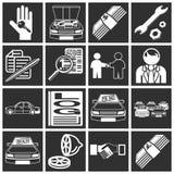 Ícones da compra do carro Imagens de Stock