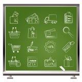 Ícones da compra e do Web site Imagem de Stock