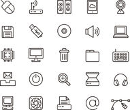 Ícones da computação e da TI Imagem de Stock Royalty Free