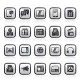 Ícones da conexão, da comunicação e da tecnologia Fotos de Stock