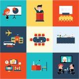 Ícones da conferência Fotos de Stock