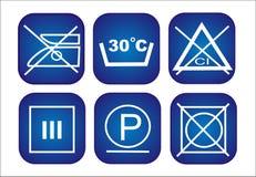 Ícones da conservação da roupa ajustados Imagem de Stock Royalty Free