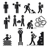 Ícones da construção Imagens de Stock Royalty Free