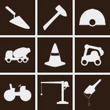 Ícones da construção Fotografia de Stock