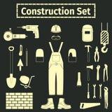 Ícones da construção ajustados Fotografia de Stock Royalty Free