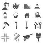 Ícones da construção ajustados Foto de Stock