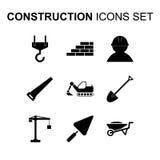 Ícones da construção ajustados Ilustração do vetor Imagens de Stock Royalty Free