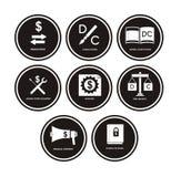 Ícones da contabilidade Imagem de Stock