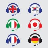 Ícones da conversação ajustados ilustração stock