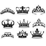 Ícones da coroa Imagens de Stock Royalty Free
