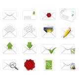 Ícones da correspondência ilustração stock