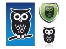 Ícones da coruja Imagens de Stock Royalty Free