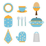Ícones da cozinha ilustração do vetor