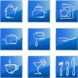 Ícones da cozinha ajustados Imagens de Stock