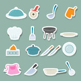 Ícones da cozinha ajustados Imagem de Stock Royalty Free