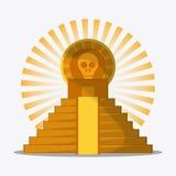 Ícones da cultura de México no estilo liso do projeto, ilustração do vetor Fotografia de Stock Royalty Free