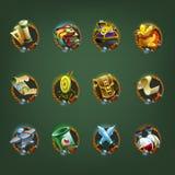 Ícones da decoração para jogos Fotografia de Stock