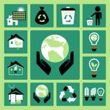 Ícones da ecologia Imagem de Stock