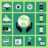Ícones da ecologia Imagens de Stock