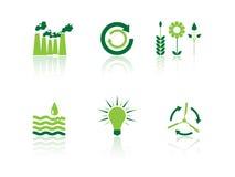 Ícones da ecologia Foto de Stock Royalty Free