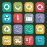 Ícones 03 da ecologia Imagens de Stock