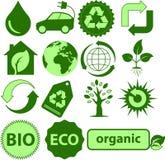Ícones da ecologia Imagem de Stock Royalty Free