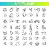 Ícones da ecologia ajustados Vetor Fotografia de Stock