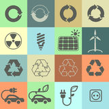 Ícones da ecologia Grupo 02 Imagens de Stock Royalty Free