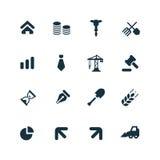 Ícones da economia ajustados Foto de Stock Royalty Free