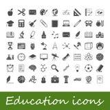 Ícones da educação Fotografia de Stock Royalty Free