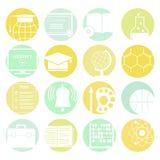 Ícones da educação Fotos de Stock