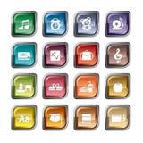Ícones da educação Fotos de Stock Royalty Free