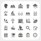 Ícones da educação ajustados Imagem de Stock Royalty Free