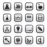 Ícones da educação e da escola Imagens de Stock