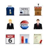 Ícones da eleição Foto de Stock Royalty Free