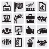 Ícones da eleição Fotografia de Stock